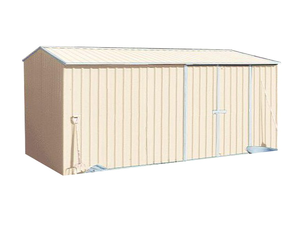Absco Workshop Garden Shed Classic Cream