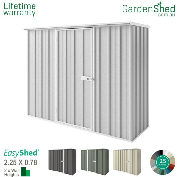 EasyShed 2.26x0.78 Garden Shed - Woodland-Grey / Slate Grey - Zinc