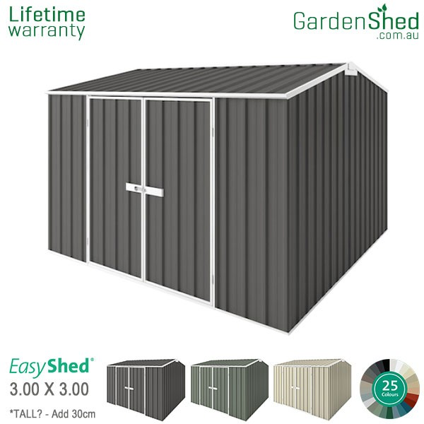 EasyShed Garden Shed 3.00m x 3.00m - Woodland Grey