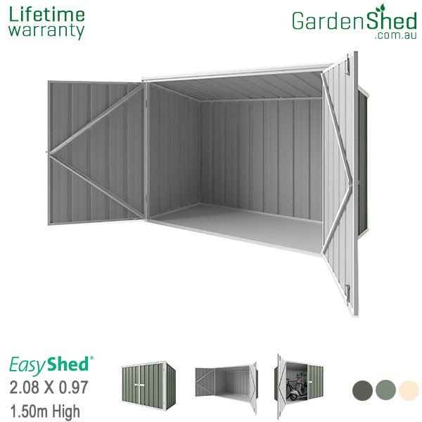 EasyShed Garden Shed 2.10m x 0.97m - Pale Eucalypt