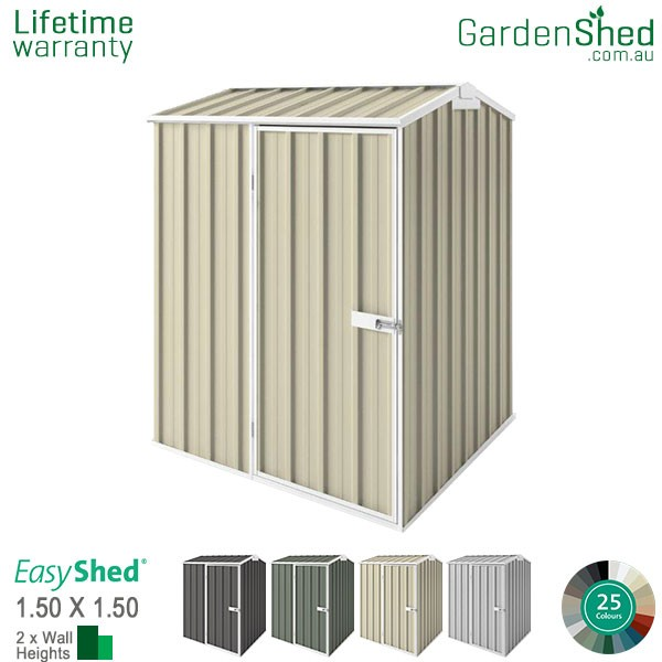 EasyShed 1.50x1.50 Garden Shed - Premier - Smooth Cream
