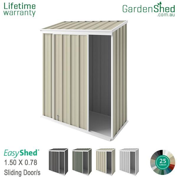 EasyShed 1.50x0.78 Garden Shed - EziSlider - Smooth Cream