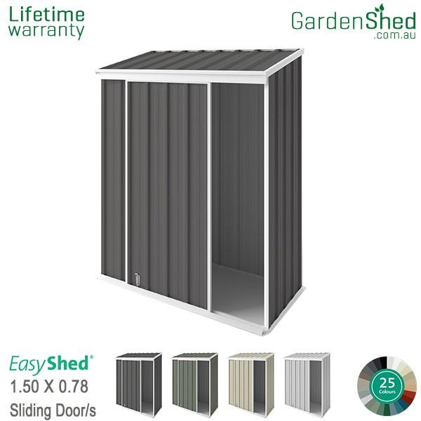 EasyShed 1.50x0.78 Garden Shed - EziSlider - Woodland-Grey / Slate Grey
