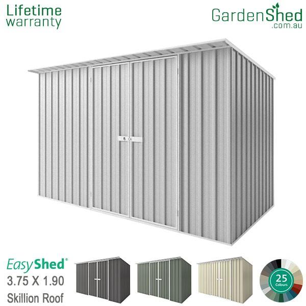 EasyShed 3.75x1.90 Garden Shed - Skillion - Woodland-Grey / Slate Grey - Zinc