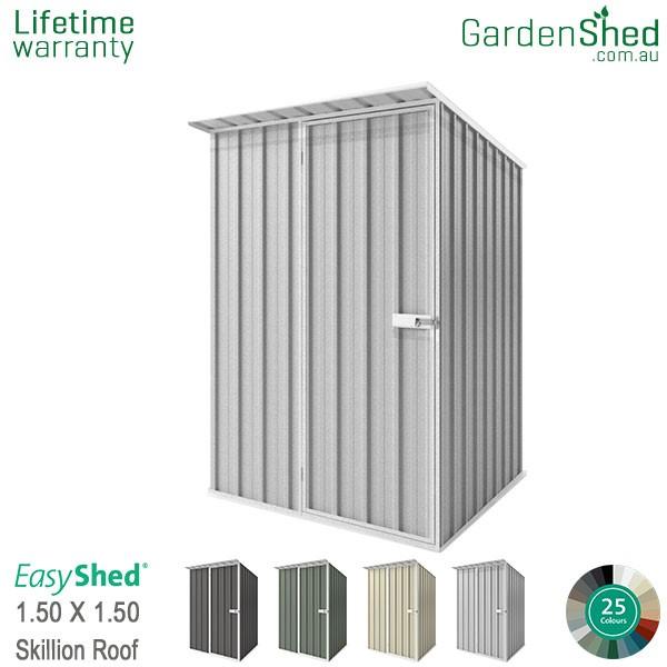 EasyShed 1.50x1.50 Garden Shed - Skillion - Woodland-Grey / Slate Grey - Zinc