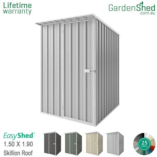 EasyShed 1.50x1.90 Garden Shed - Skillion - Woodland-Grey / Slate Grey - Zinc