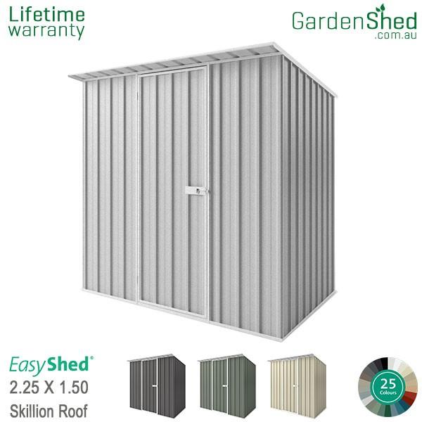 EasyShed 2.26x1.50 Garden Shed - Skillion - Woodland-Grey / Slate Grey - Zinc