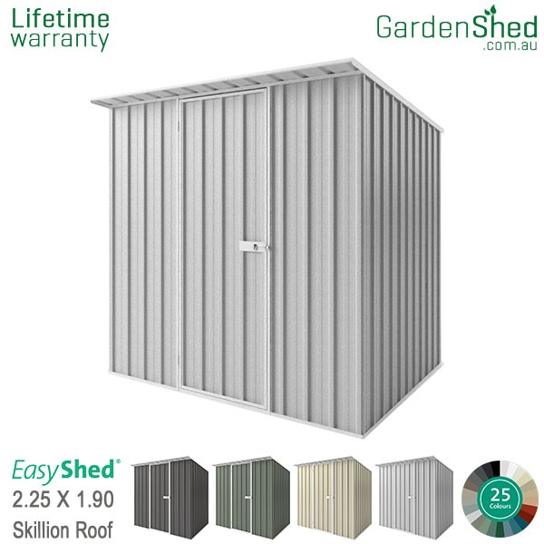 EasyShed 2.26x1.90 Garden Shed - Skillion - Woodland-Grey / Slate Grey - Zinc
