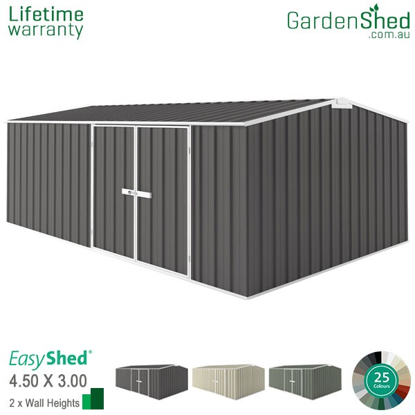 EasyShed Garden Shed 4.5m x 3.00m - Woodland Grey