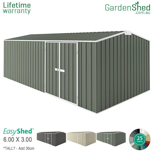 EasyShed Garden Shed 6.00m x 3.00m - Pale Eucalypt
