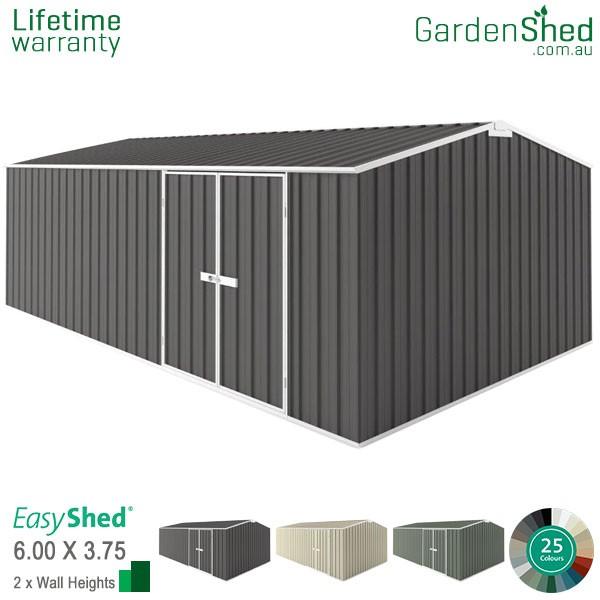 EasyShed 6.00x3.75 Garden Shed - Workshop - Woodland-Grey / Slate Grey