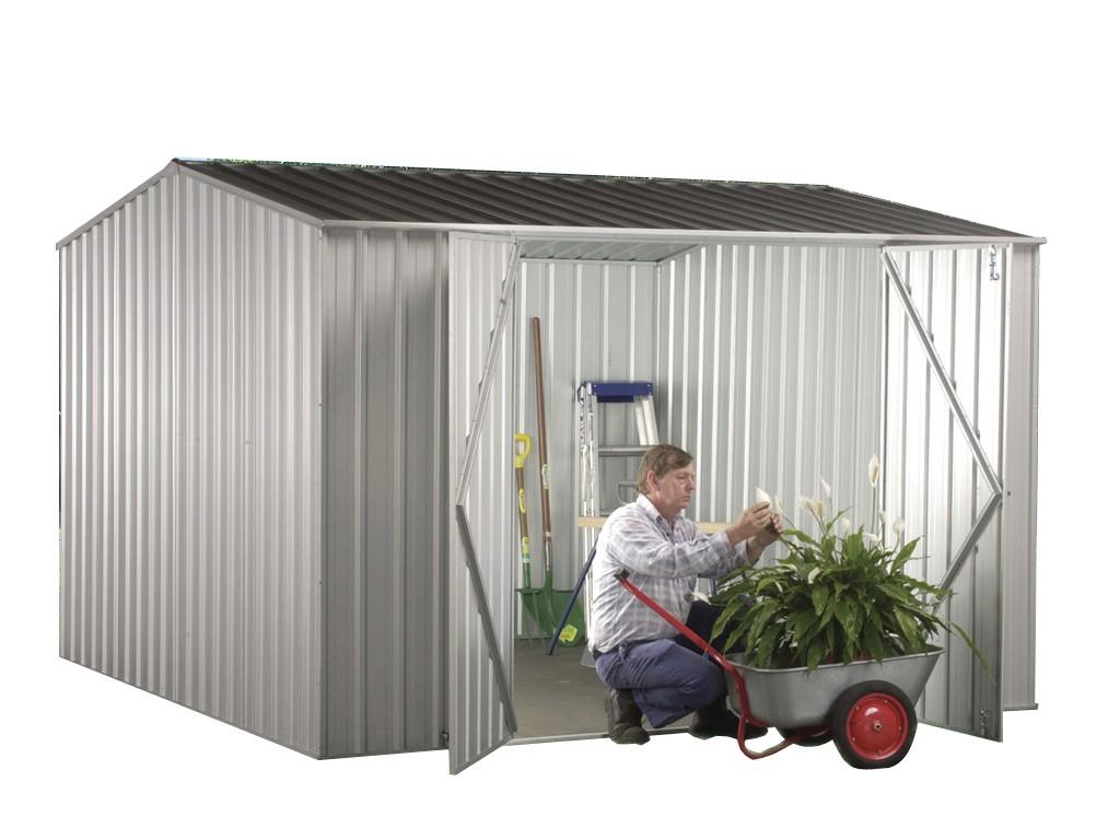 Absco Premier Garden Shed Zinc
