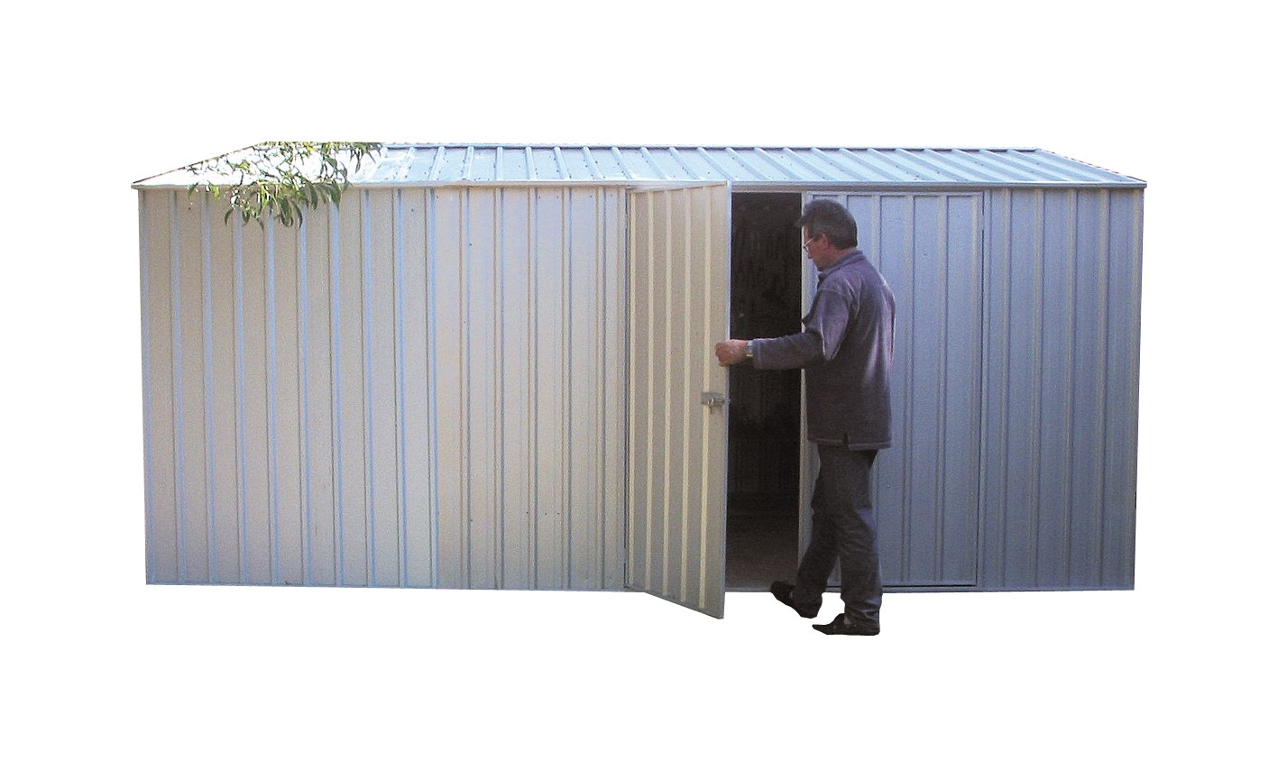 Absco Workshop Garden Shed Zinc