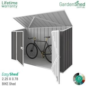 EasyShed Bike Shed 2.26x0.78 Garden Shed - Spacesaver