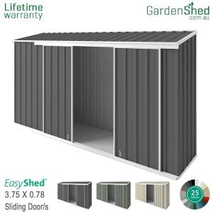 EasyShed 3.75x0.78 Garden Shed - EziSlider