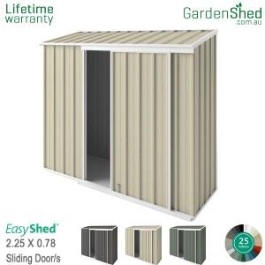 EasyShed 2.26x0.78 Garden Shed - EziSlider