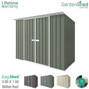 EasyShed 3.00x1.50 Garden Shed - Skillion
