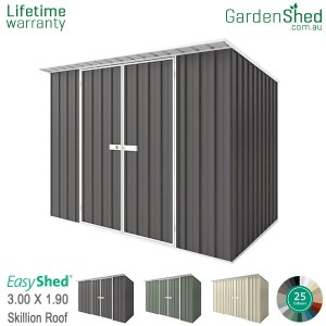 EasyShed 3.00x1.90 Garden Shed - Skillion