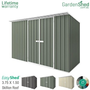 EasyShed 3.75x1.50 Garden Shed - Skillion
