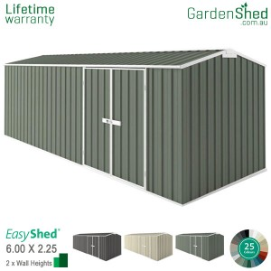 EasyShed 6.00x2.26 Garden Shed - Workshop