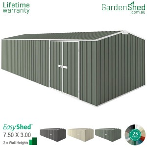 EasyShed 7.50x3.00 Garden Shed - Workshop