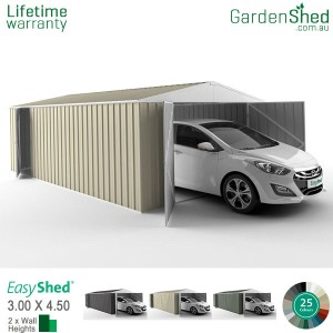 EasyShed Utility<br>3.00m x 4.50m<br>Gable (triangle)
