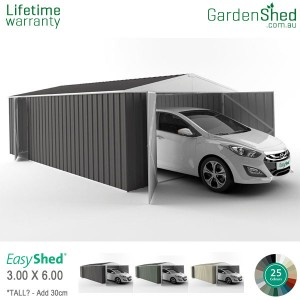 EasyShed Utility<br>3.00m x 6.00m<br>Gable (triangle)
