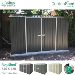 Garden Sheds<br/> 3.00m x 1.50m<br/> EasyShed Double Door
