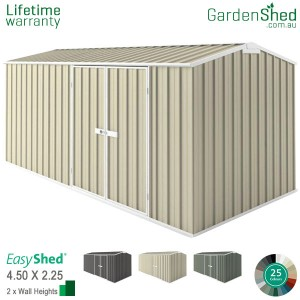 EasyShed Workshop<br>4.5m x 2.26m<br>Gable (triangle)