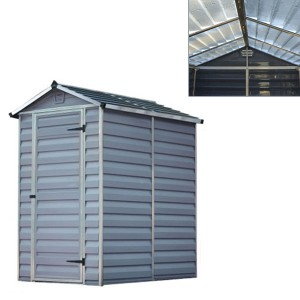 Palram Skylight 1.23m(W) x 1.78 Plastic Shed with Floor included