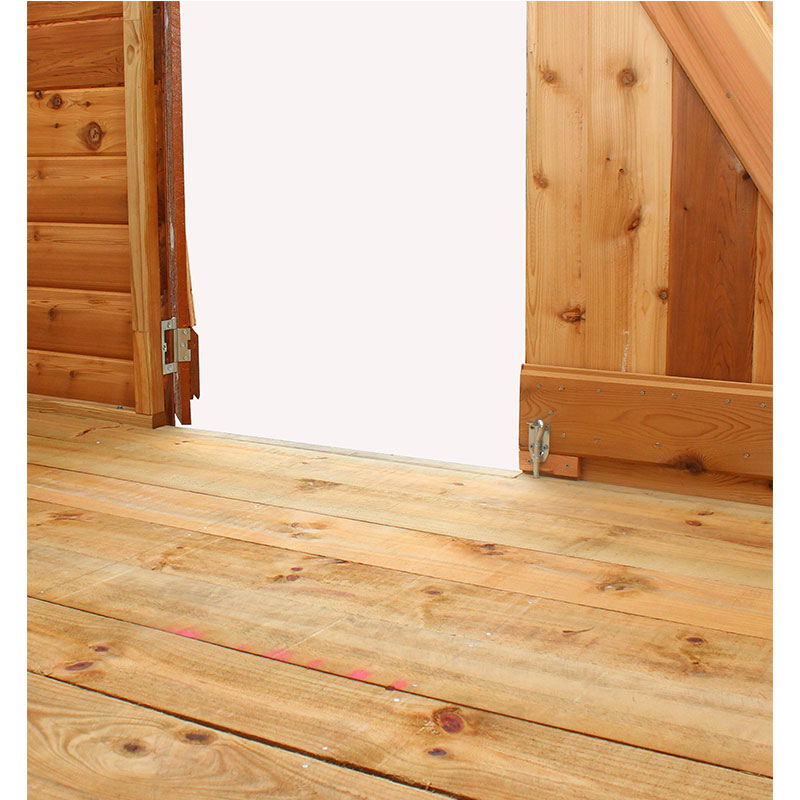 rebated timber floor kit for the cedar shed