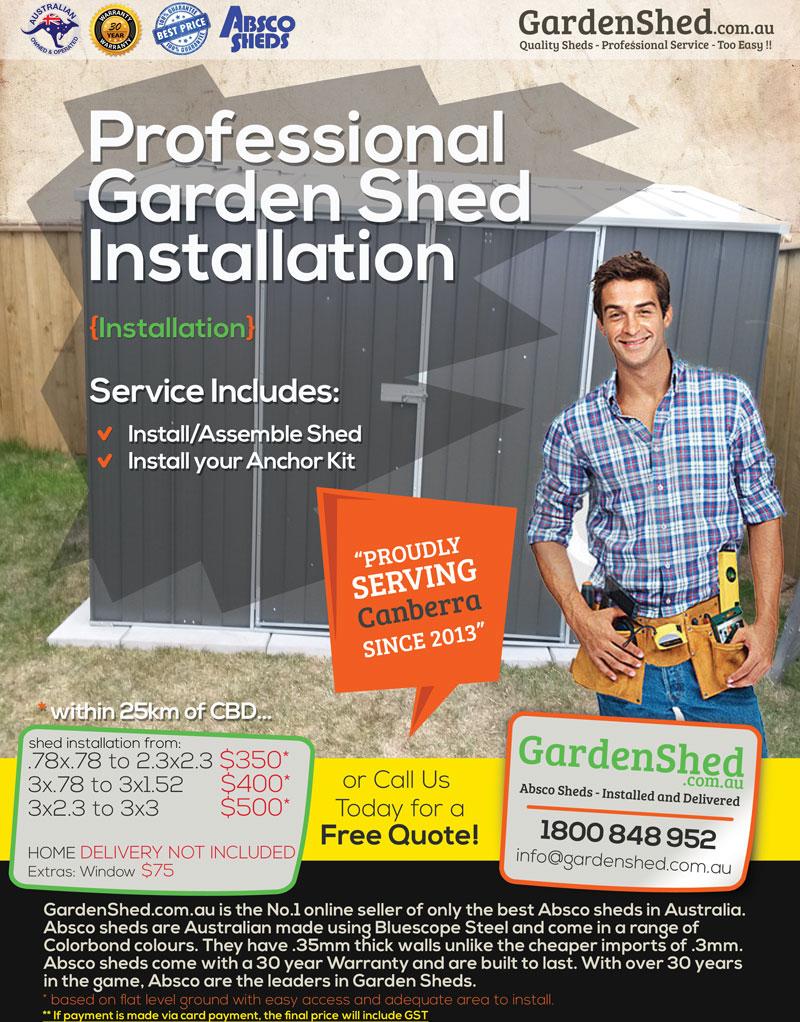 Garden Shed Concrete Slab Service