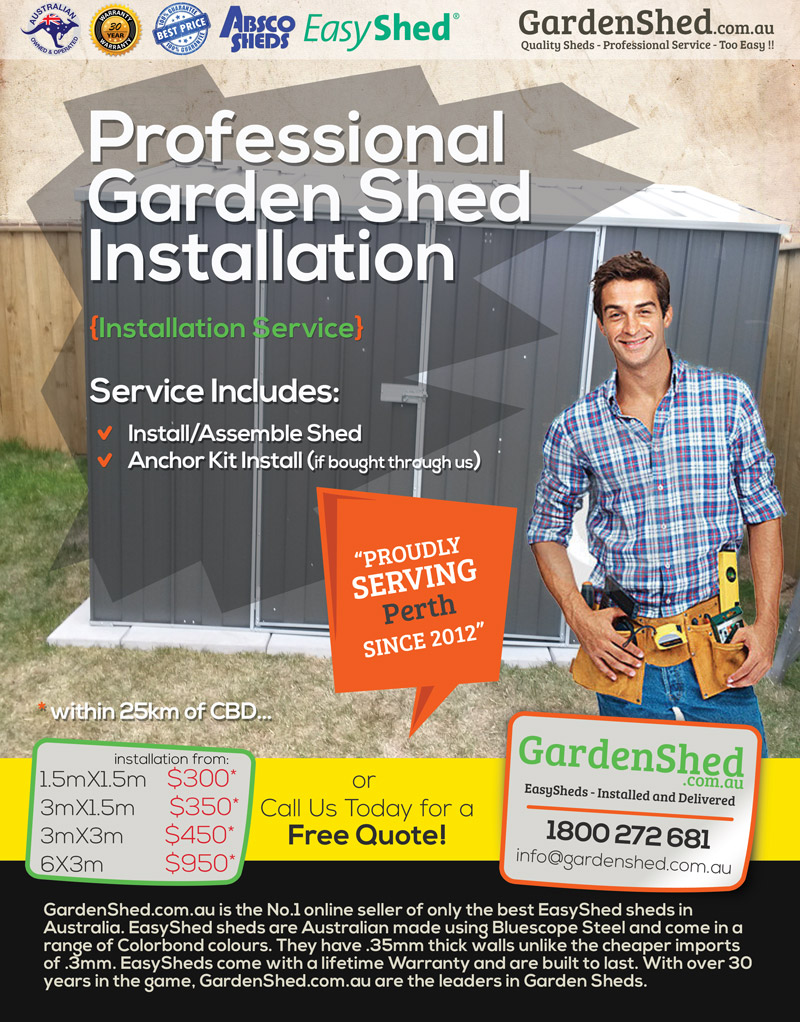 Garden Shed Assembly Service Perth WA