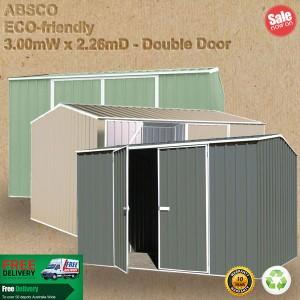Absco Eco Range Garden Shed 3x2.26 double door