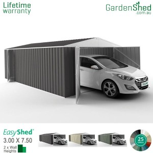 EasyShed 3.00x7.50 Garden Shed - Utility