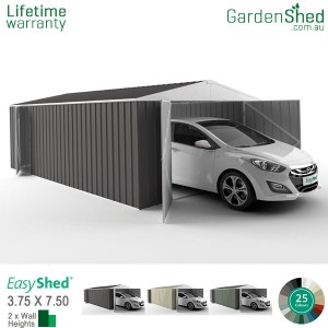 EasyShed 3.75x7.50 Garden Shed - Utility