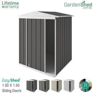 EasyShed 1.50x1.50 Garden Shed - EziSlider