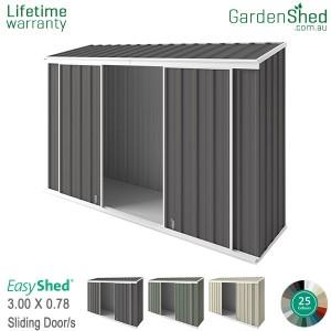 EasyShed 3.00x0.78 Garden Shed - EziSlider
