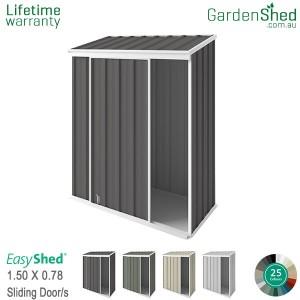 EasyShed 1.50x0.78 Garden Shed - EziSlider