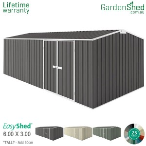 EasyShed 6.00x3.00 Garden Shed - Workshop