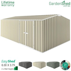 EasyShed 6.00x3.75 Garden Shed - Workshop