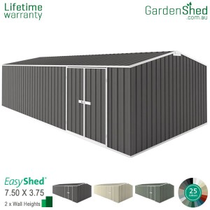 EasyShed 7.50x3.75 Garden Shed - Workshop