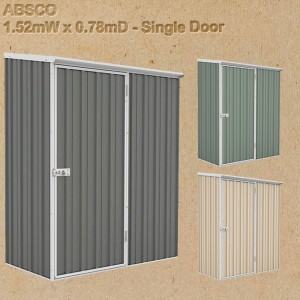 Absco Garden Shed 1.5 x 0.80 - 15081SECOK