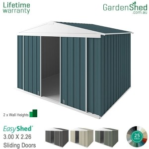 EasyShed EziSlider<br>3.00m x 2.26m<br>Gable (triangle)