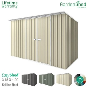 EasyShed 3.75x1.90 Garden Shed - Skillion