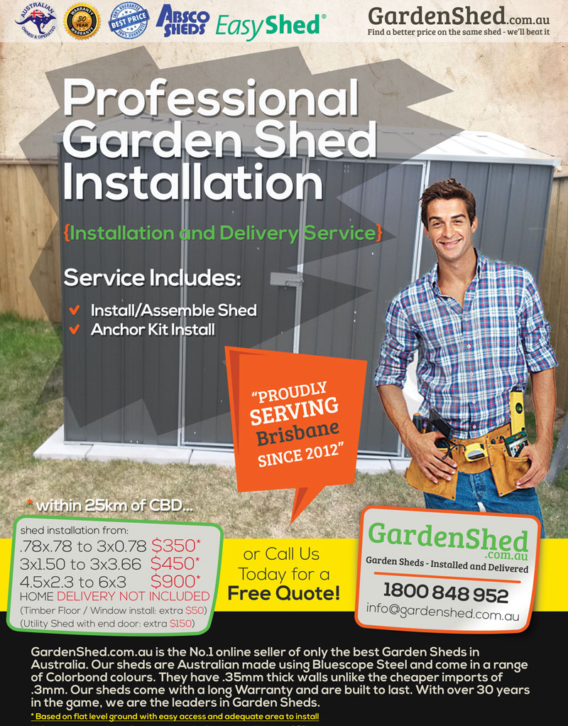 Garden Shed Assembly Service Brisbane QLD